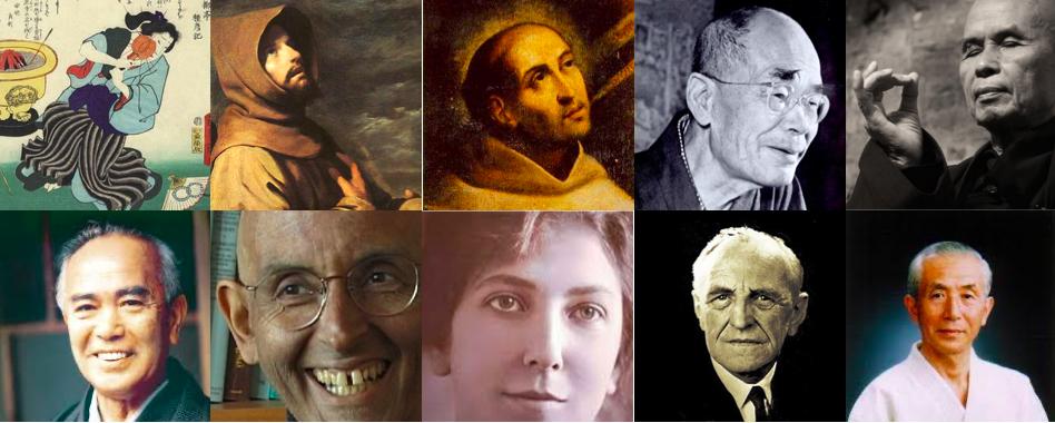 Ryonen, San Francisco, San Juan de la Cruz, DT Suzuki, Tich Nhat Hanh, Tohei, Varela, Teresa de los Andes, Winnicott, Maruyama.