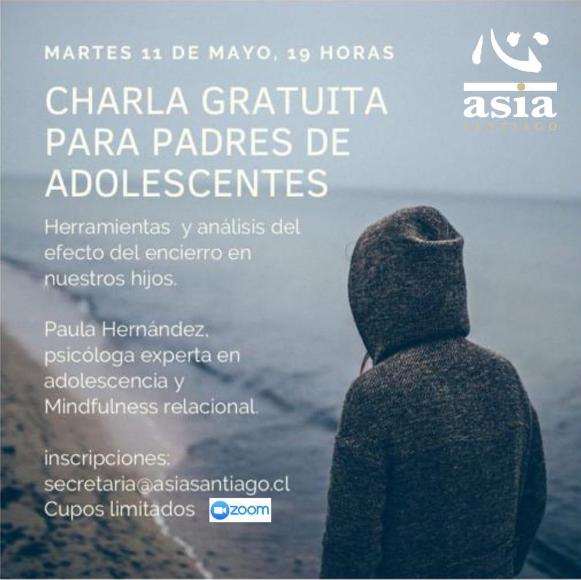 CHARLA GRATUITA PARA PADRES DE ADOLESCENTES
